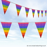 Pride Bunting - Abstract Rainbow Design